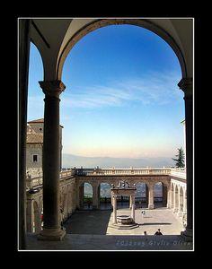 Abbazia di Montecassino, Cassino,province of  Frosinone, Lazio region Italy  #Beautiful #Places #Photography