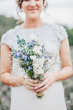 Hunter Valley, New South Wales Wedding from The Robertsons Wedding Bouquets, Wedding Flowers, Wedding Dresses, Summer Wedding, One Shoulder Wedding Dress, Style Me, Things To Come, Blue And White, Pretty