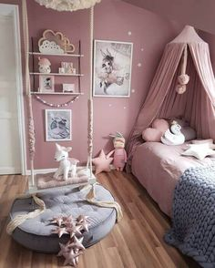 Vibrant teen girl bedrooms design for the cozy teen girl room vibe, image number 2489559288 Baby Bedroom, Bedroom Decor, Fantasy Bedroom, Fairytale Bedroom, Girl Bedroom Designs, Design Bedroom, Teen Girl Bedrooms, Kids Bedroom Ideas For Girls, Childrens Bedrooms Girls