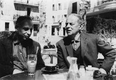 François Bondy and Witold Gombrowicz at Place de Grande Jardine, Vence 1965 -by Liliane Bondy