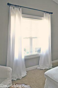 DIY:: Floor Length Curtains (From Table Cloths)
