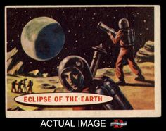 1957 Topps Space Cards 51 Eclipse of The Earth VG EX G1181 | eBay