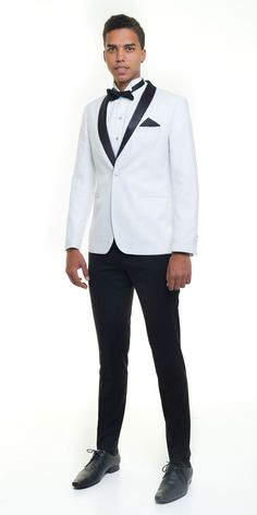 Off White Slim fit Tuxedo from Suit Yourself Durban