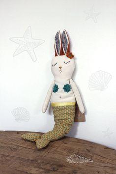 handmade stuffed toys from Filomeluna - elephant, bunny, mermaid, cat
