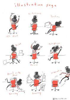 inapencil: illustration yoga