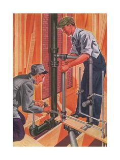 size: Giclee Print: Plumbing and Pipefitting by Found Image Press : Framed Artwork, Framed Prints, Canvas Prints, Art Prints, Plumbing Humor, Paving Pattern, Generation Photo, Plumbing Installation, Natural Air Freshener
