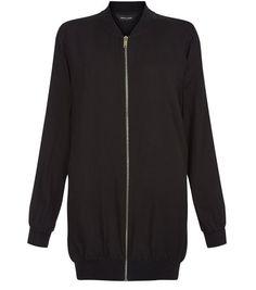 e64dd8cd Black Longline Bomber Jacket Long A Line, Teen Guy Fashion, Chic Dress, New