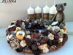Ádventi asztali dísz Advent, Stuffed Mushrooms, Mac, Stuff Mushrooms, Poppy