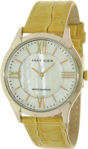 Anne Klein Women's AK-1132MPMS Beige Leather Quartz Watch with White Dial : Disclosure: Affiliate link