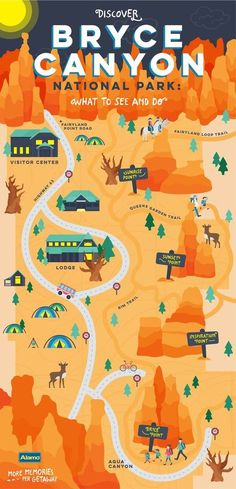 If your family loves exploring nature, Bryce Canyon National Park in southern Utah is a must-see. Home to stunning stargazing opportunities, great camping and the largest collection of hoodoos - spire-shaped rock formations - the park is an unforgettable Bryce National Park, Us National Parks, Südwesten Usa, Wyoming, Reisen In Die Usa, Utah Parks, Monument Valley, Into The West, Colorado