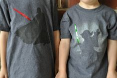 My boys have recently really gotten into Star Wars and they were begging to make some of their own Star Wars tees.  Here's what we came up...