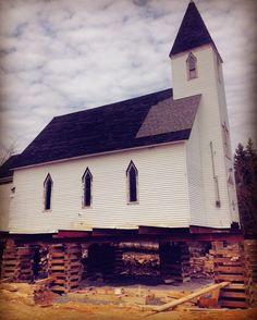 Any ideas why this #church is being raised? Saw this while driving to #halifax #wtf