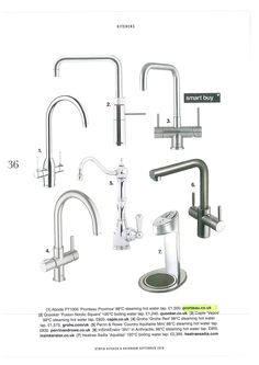 A hot water tap feature which shows off our traditional Province model off against all the other contemporary models on the market. Water Tap, Sink, Traditional, Models, Contemporary, Hot, Inspiration, Home Decor, Sink Tops