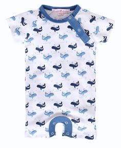 Made from the softest pima cottons and trimmed in stylish chambray, this romper is a huge hit for summer! The matching Landon Whale Blanket completes the look! The Landon is also available in a footie to stay extra cozy! Nautical Nursery, Nautical Baby, Baby Boy Outfits, Chambray, Whale, Rompers, Stylish, Cotton, Clothes