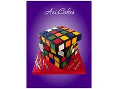 Magic Cube Cake - Torta de Cubo Mágico.