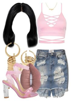 """""""7 6 16"""" by miizz-starburst ❤ liked on Polyvore featuring Abercrombie & Fitch, H&M and Lime Crime"""