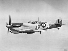 Supermarine Spitfire Mark VC, ER934 'F-A', in flight over Egypt at the time of its transfer from Malta to the Middle East Command, where it joined No. 73 Operational Training Unit at Abu Sueir.