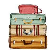 suitcases drawn to be admired