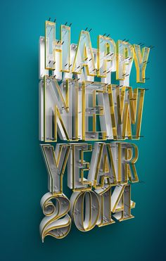 2014 New Year Typography by Paul Woodward, via Behance