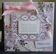 Creative expressions stamp and dreamees delights flowers