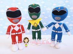 Bonecos power rangers de feltro Ranger Verde, Pawer Rangers, Minnie Mouse, Disney Characters, Fictional Characters, Ranger, Power Ranger Birthday, Embellishments, Feltro