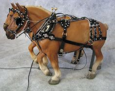 Kulp Model Horse Store - Scaled Miniature Three-Strap Harness for Model Horses