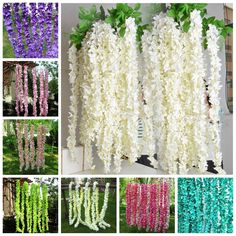 $2.73 - 1Pcs Artificial Silk Hydrangea Flowers Vine Diy Wall Hanging Wedding Decoration #ebay #Home & Garden
