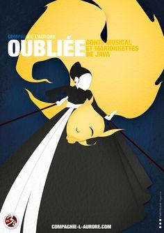 © Petit Poucet l'agence - Yan Moussu, Conte musical et marionnettes de java. Affiche - Paper Art - Matière - Iconographie - Graphisme - poster