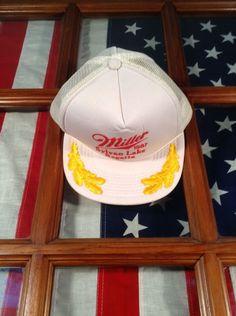 fae9d104fb5 VINTAGE Miller Beer Hat Rope baseball snapback Trucker Embroidered Flat  bill. Clothing LogoNew InventorySnapback CapCaterpillarMan ...