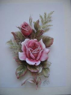 Beautiful rose paper tole.