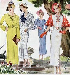 Saídos da Concha: Dress to Impress :: 1930's patterns
