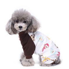 Idefair 4-legs Dog Pajamas Cute Dog Jumpsuit Puppy Pjs Colorful Pattern Dog Clothes 7Colors 5 Sizes * Click on the image for additional details. (This is an affiliate link and I receive a commission for the sales)