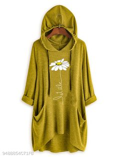 Casual Floral Printed Colour Long Sleeve High-Low Hoodie Weafall fashion 2019 trends Tights,fall fashion trends New,fall fashion trends Ralph Lauren,fall fashion trends Printed Sweatshirts, Printed Shirts, Hooded Sweatshirts, Plus Size Hoodies, Stylish Hoodies, Casual Tops, Half Sleeves, Long Sleeve Tops, Prints
