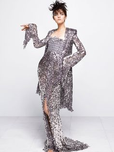 Haute Couture| Magda Laguinge poses for Karl Lagerfeld in Chanel Couture | http://www.theglampepper.com/2014/07/09/haute-couture-chanel-fallwinter-201415-lookbook-by-karl-lagerfeld/