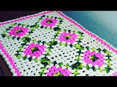 Crochet Table Mat, Crochet Motif, Crochet Doilies, Easy Crochet, Crochet Flowers, Knit Crochet, Crochet Patterns, Granny Square Pattern Free, Free Pattern