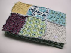 THE CLYDE Rag quilt patchwork blanket Denyse by thetrunkshow