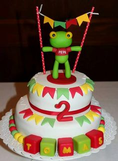 El Sapo Pepe Frozen, Birthday Cake, Candy, Desserts, Handmade, Food, Ideas, 1 Year, Happy