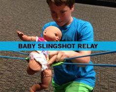 Baby Slingshot Relay - Fun Ninja Youth Group Games | Fun Ninja Youth Group Games