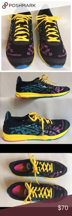 ASICS Tennis Shoe, Multi-color Super cute and comfy.  Worn twice maybe. Scroll my closet to see all shoes. Asics Shoes Sneakers