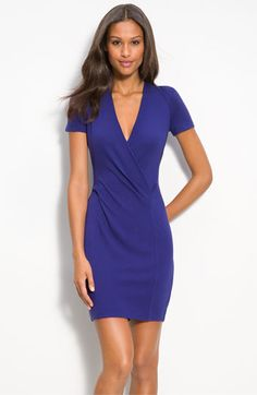 simple, purple, so pretty  French Connection 'Samantha' Ponte Knit Dress