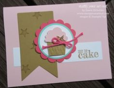 Birthday Card created with Something To Say stamp set and Cupcake Builder Punch… #stampyourartout #stampinup - Stampin' Up!® - Stamp Your Art Out! www.stampyourartout.com