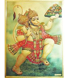 Lord Hanuman - Metallic Poster