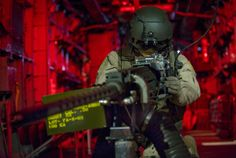 MH-53 Pave Low Gunner | an aerial gunner exhibit aboard a mh 53 pave low helicopter is one of ...