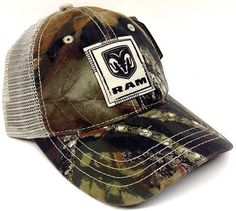 DODGE RAM MOSSY OAK CAMO MESH TRUCKER HAT CAP CAMOUFLAGE HUNTING NASCAR SNAPBACK in Clothing, Shoes & Accessories | eBay