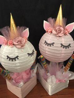 Unicorn centerpieces / unicorn decorations / unicorn theme