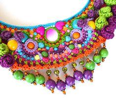 big bold chunky necklace frida kahlo necklace statement