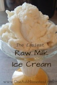 The Easiest Raw Milk Ice Cream