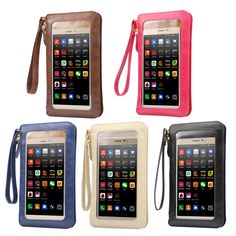 Fashion Leather Case Touch Screen + Small Shoulder Crossbody Pouch +Wallet Bag for Samsung J1 mini ace J2 J3 J5 J7/On5 On7 E5 E7