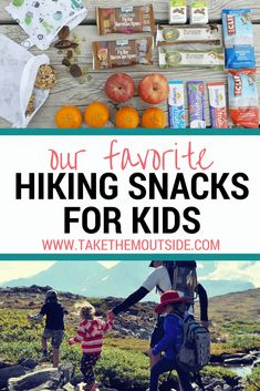 Easy and healthy hiking snacks kids will love What are your family's favorite hiking snacks? Find out what we grab before heading outdoors with kids. These are our favorite healthier grab and go snack ideas when we're hiking with kids Hiking Food, Backpacking Food, Hiking Tips, Camping Meals, Family Camping, Tent Camping, Outdoor Camping, Camping Recipes, Camping Cabins