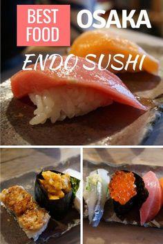 Best sushi in Osaka, Japan - Endo Sushi (中央市場 ゑんどう寿司) at the Osaka Central Fish Market